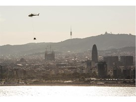 The Arona spent an hour flying parallel to the Barcelona coastline