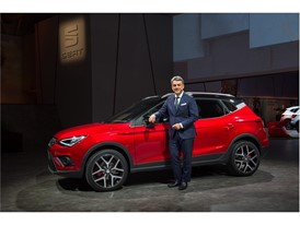 President of SEAT, Mr Luca de Meo with the New SEAT Arona at Barcelona Teaser Event