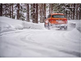 Snow tyres and the 4Drive system greatly helped the driver to stay on the correct course