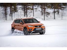 Kankkunen, known as KKK, drives across the frozen Lake Pikku-Nissi