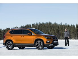 The rally driver assures that driving the Ateca on snow has been a fun and easy