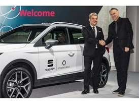 Luca de Meo, President of SEAT, and Ned Curic, VP Automotive, Amazon Alexa