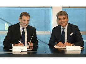 Luca de Meo, SEAT President, and Luis Miguel Gilpérez, Telefónica España President