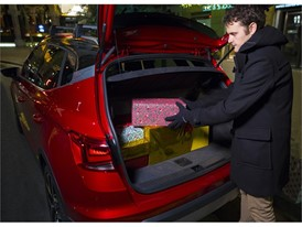 Arrange the packages correctly by placing the heavier ones on the floor of the boot as far back as possible and