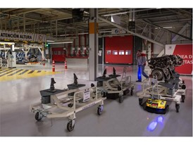 125 automated guided vehicles (AGV) share the workspace every day with 7,000 employees and ease their workload