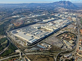 Aerial view of the SEAT Martorell factory, 25 years old today