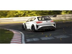 CUPRA e-Racer 3/4 Rear Sketch