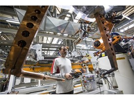 Robots take care of assembling the structure of the cars