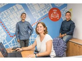 XPLORA team at the office in Tel Aviv, Israel