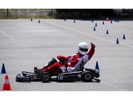 With this electric kart, the team finished in second place in the Kart Academy competition