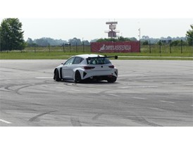 CUPRA has taken the e-Racer to a race track in Zagreb (Croatia)