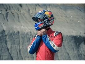 Ducati Corse MotoGp rider Andrea Dovizioso getting ready to drive the TCR on the Castellolí track