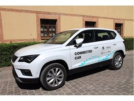 SEAT Connected car during demonstration un Segovia
