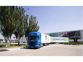 The truck was tested on the journey from Zaragoza to the SEAT headquarters in Martorell