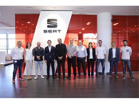 SEAT and Noveto team at SEAT HQ in Barcelona (Martorell)