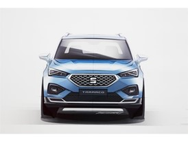 The front grille of the SEAT Tarraco is positioned more vertically
