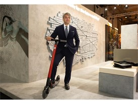 Luca de Meo with the new eXS KickScooter