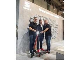 Lucas Casasnovas, Product Marketing Director at SEAT, Dennis Hardholt, President Segway Europe and Robin Huijgen, Produc