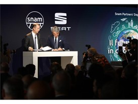 SEAT and Snam signed a strategic agreement to promote the use of compressed natural gas (CNG) and renewable gas