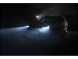 The lights of the SEAT Tarraco are tested in different conditions of nighttime visibility