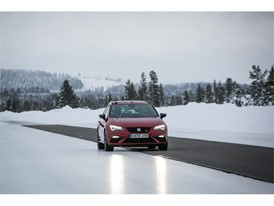The brakes are tested on a 200-metre long track that is half asphalt and half ice; high and low grip