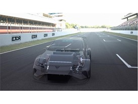 This car features an energy recovery system that harnesses energy from braking and decelerating