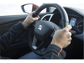When driving on snow, you have to turn the wheel gently