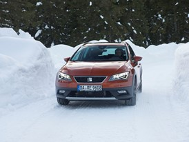 On ice avoid sudden manoeuvres and brake gently