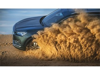 We must deactivate the stability control System before driving onto the dune
