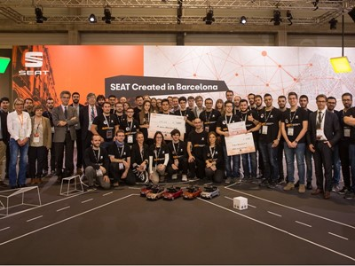 STUDENTS FROM THE UNIVERSITY OF VALLADOLID WIN THE FIRST EDITION OF THE SEAT AUTONOMOUS DRIVING CHALLENGE
