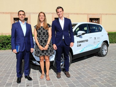 Telefónica and SEAT present the first use case of assisted driving via the mobile network in a real