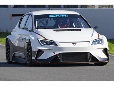 The CUPRA e-Racer at the new ETCR championship presentation