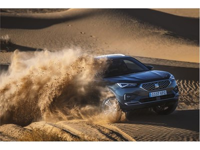 The SEAT Tarraco undergoes testing on Morocco's Erg Chebbi, one of the most unforgiving places on the planet