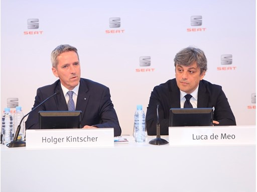 Chairman of the Executive Committee of SEAT Luca de Meo and SEAT Executive Vice-President for Finance, IT and Organizati