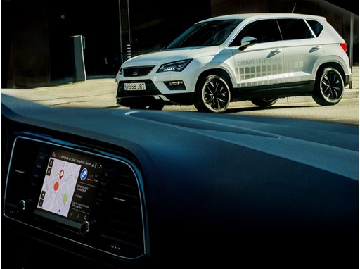 SEAT presents an Ateca with Smart City Connectivity that makes it easy to locate free parking spaces