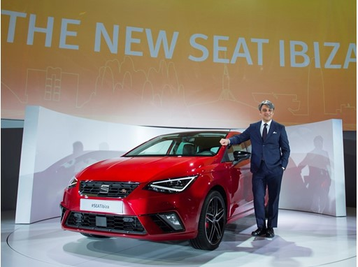 President of SEAT, Luca de Meo presenting the New SEAT Ibiza