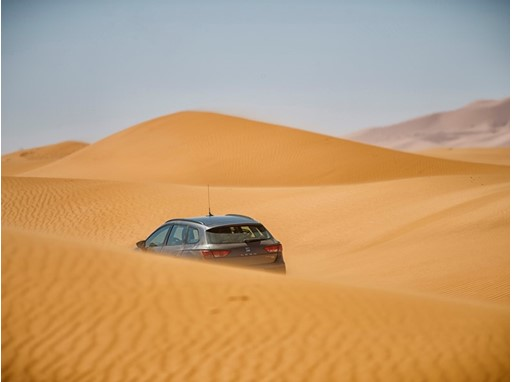 The Leon X-Perience tackles dunes, rocky terrain and extreme temperatures in the Sahara desert