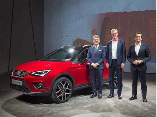President of SEAT, Mr Luca de Meo, Executive Vice-President for R&D of SEAT, Dr. Matthias Rabe and Director of Design, A