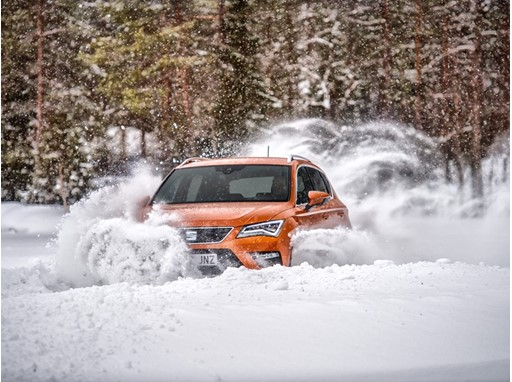 Juha Kankkunen serves up some refreshingly cool driving images with the SEAT Ateca 4Drive