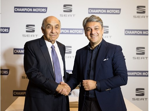 Luca de Meo, President of SEAT and Professor Itzhak Swary, Chairman of the Board of Directors of Champion Motors
