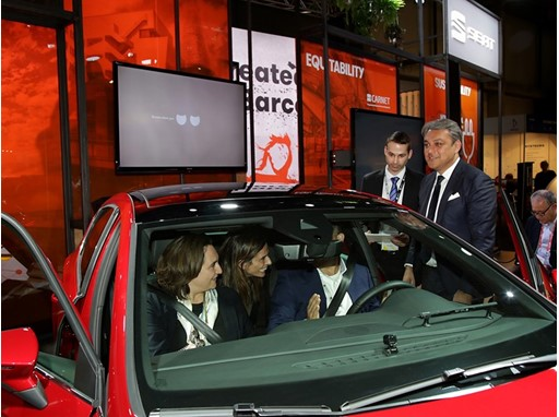 Barcelona Major Ada Colau meets SEAT Leon Cristobal, in the presence of SEAT's president Luca de Meo
