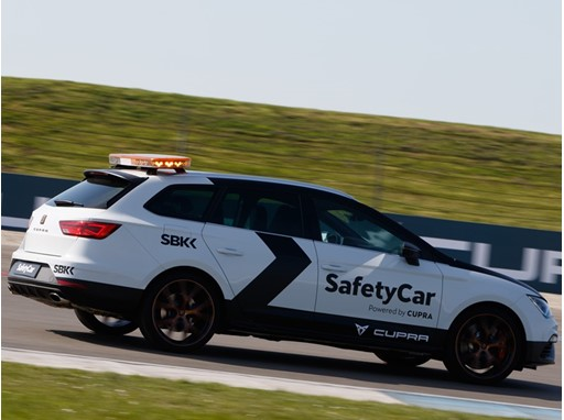 The SEAT Leon CUPRA is the safety car at the Superbike World Championship