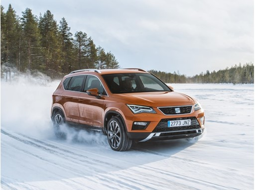 SEAT Ateca at the SEAT Snow Experience 2017
