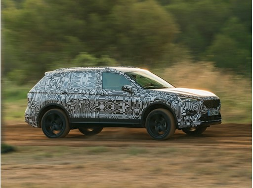 The new SEAT Tarraco is put through the paces on an off-road course prior to its international presentation