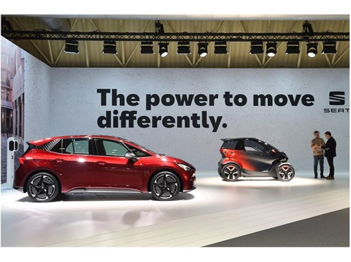 SEAT el-Born and SEAT Minimó concept car at the Automobile Barcelona 2019