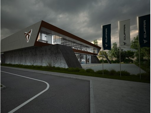 The CUPRA Headquarters, whose design evokes a racing paddock, will have motorsport at its core