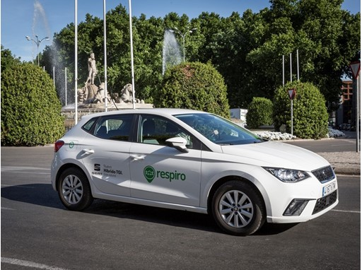 Respiro's car fleet is mainly made up of gas hybrid vehicles
