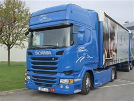 The mega truck makes its maiden voyage on Spanish roads and motorways