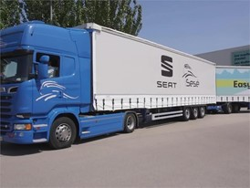 Footage - SEAT and Grupo Sesé debut the duo trailer, the longest, most efficient truck driving on European roads