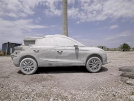 15,000 kg of cement to turn the Arona into a sculpture - FOOTAGE-HD